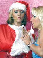 Santas little helper Lana gets her pussy licked