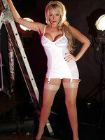 Lucy Zara looks smoking hot in her horny white lingerie
