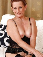 58 year old MILF Lucy can't get enough of her mature natural pussy
