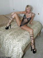 Sexy Naughty Milf Wife In Hot Sexy Strappy Teddy, Strappy Heels....Long Bare Legs and Ass