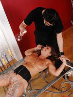 Bound Sexy Susi hot waxed, spanked