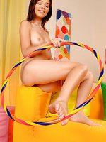 Sexy hula hoop teen Nikita in socks