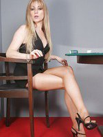 Pantyhosed poker dealer Alina