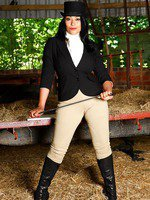 Danica Collins feels horny in her jodhpurs after a hard ride