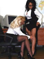 Secretary Lana can't keep her hands off the new recruit