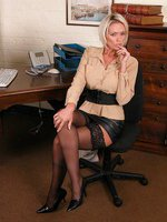 This office slut gets up to all sorts of filthy things when her boss is away