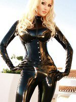 Black Catsuit at Sunset