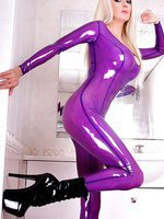 Violet Transparent Catsuit