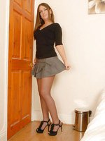 Tamzin - Short skirt, pantyhose and lingerie