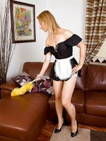 Gorgeous Tara Trinity is your favorite french maid in and out of clothes