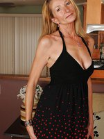 New mature model Pam shows off her sleek 56 year old body in here