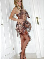 Honey loves her stockings with high heels