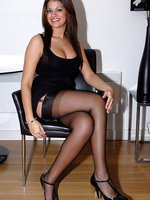 Hottie in nice dark stockings