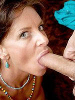 Brunette mom gets her mature pussy pounded