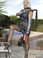 Dominatrix loves hard whipping