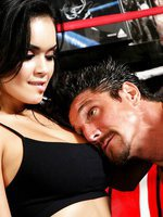 Daisy Marie sucks cock in the ring