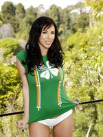Jelena Jensen shows off her Irish side with this sexy St. Patrick's Day outfit