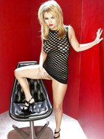 Ashlynn Brooke slutty black dress
