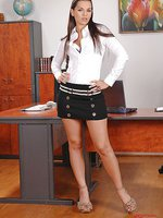 Eve Angel gets down in her office!