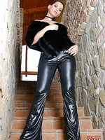 Leather and fur can make her purr!