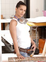 Brunette Eve Angel having DIY sex