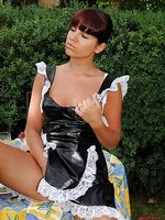 Hot maid is humiliated outdoors!
