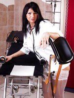 White Stockings On The Gyn Chair Fucking A Horse Speculum