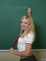 Horny schoolgirl makes sure she passes with an A+ by swallowing her instructors warm load