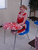 Young blonde hottie cheerleader getting some black dick in her shaved pussy
