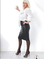 Leather skirt mature