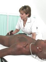 Nurse and black cock