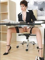 Office masturbating mature