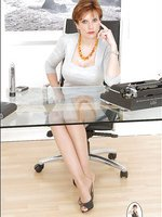 Pantyhose office boss