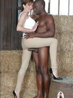Milf and black stable boy