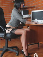 Female nylons office boss