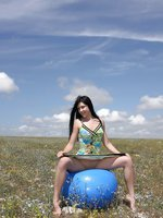 Kristina G in My Big Blue Ball!