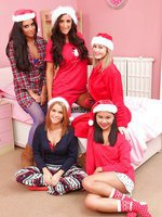 Charley S, Jasmin, Stacey P, Summer stripping on the bed