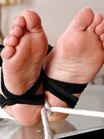 Tied up & feet licked by mistress