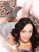 Angelina Wild's footjob in socks