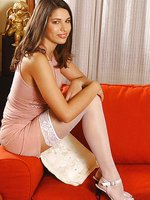 Long-legged Zafira in stockings