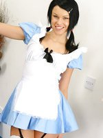 Stunning Sophie looking wonderful in a sexy Alice outfit.