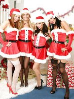 Four OT girls partying at Christmas