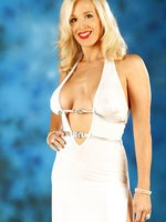 Such a glamourous shoot of Becs in a long white dress