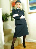 RAF uniform with stockings