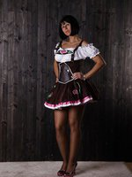 Dirndl and Fishnet Pantyhose