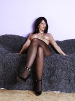 Desyra In A Backseamed Pantyhose