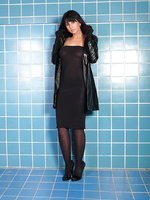 Wolford Fatal Sheer Dress and a Vinyl Coat