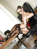 Dirty office slut Mya fucking her boss at work