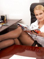 Blonde Emma gets laid at work