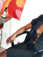 Naughty black girl amateur secretary